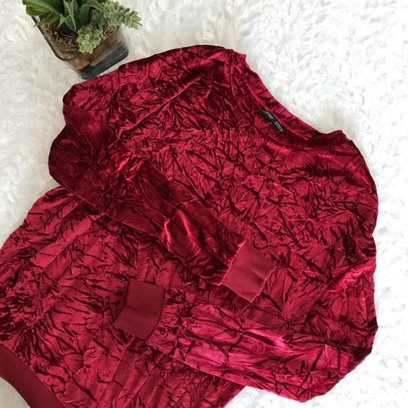ZARA: Crushed Velvet Sweater
